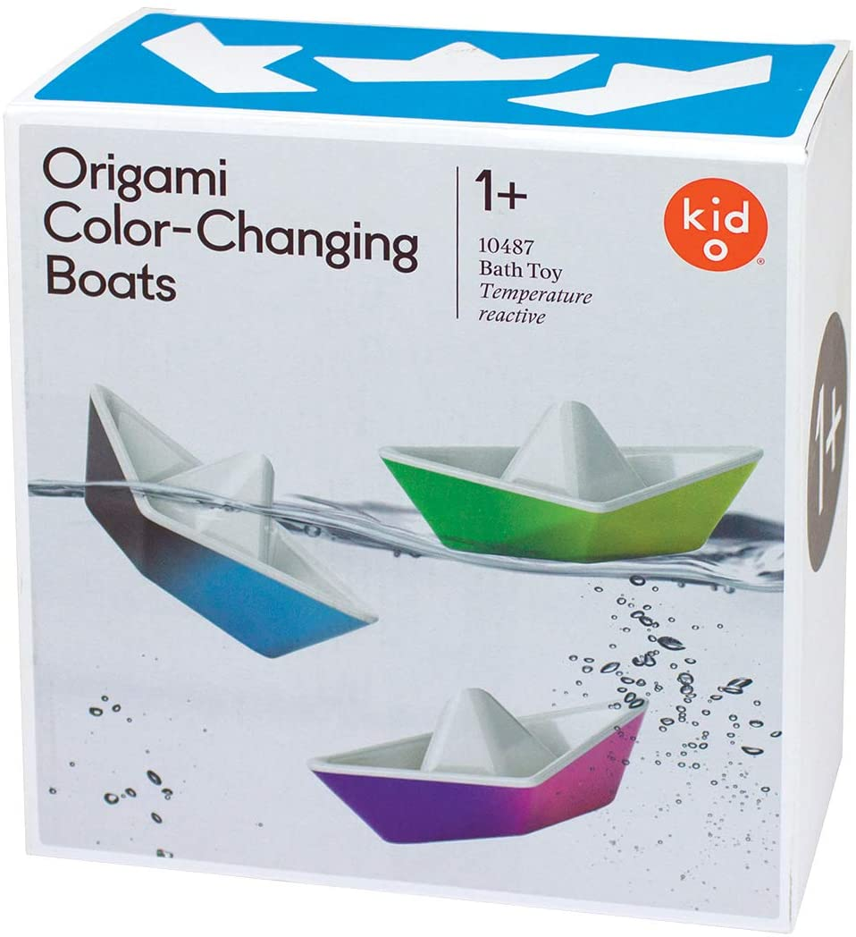Kid O Color-Changing Origami Boats Bath Toy Set
