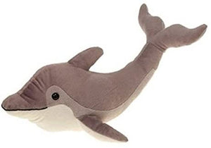 Fiesta Toys Gray Dolphin Plush Stuffed Animal Toy 32""
