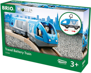 BRIO World Travel Battery Train | 3 Piece Train Toy for Kids Ages 3 and Up