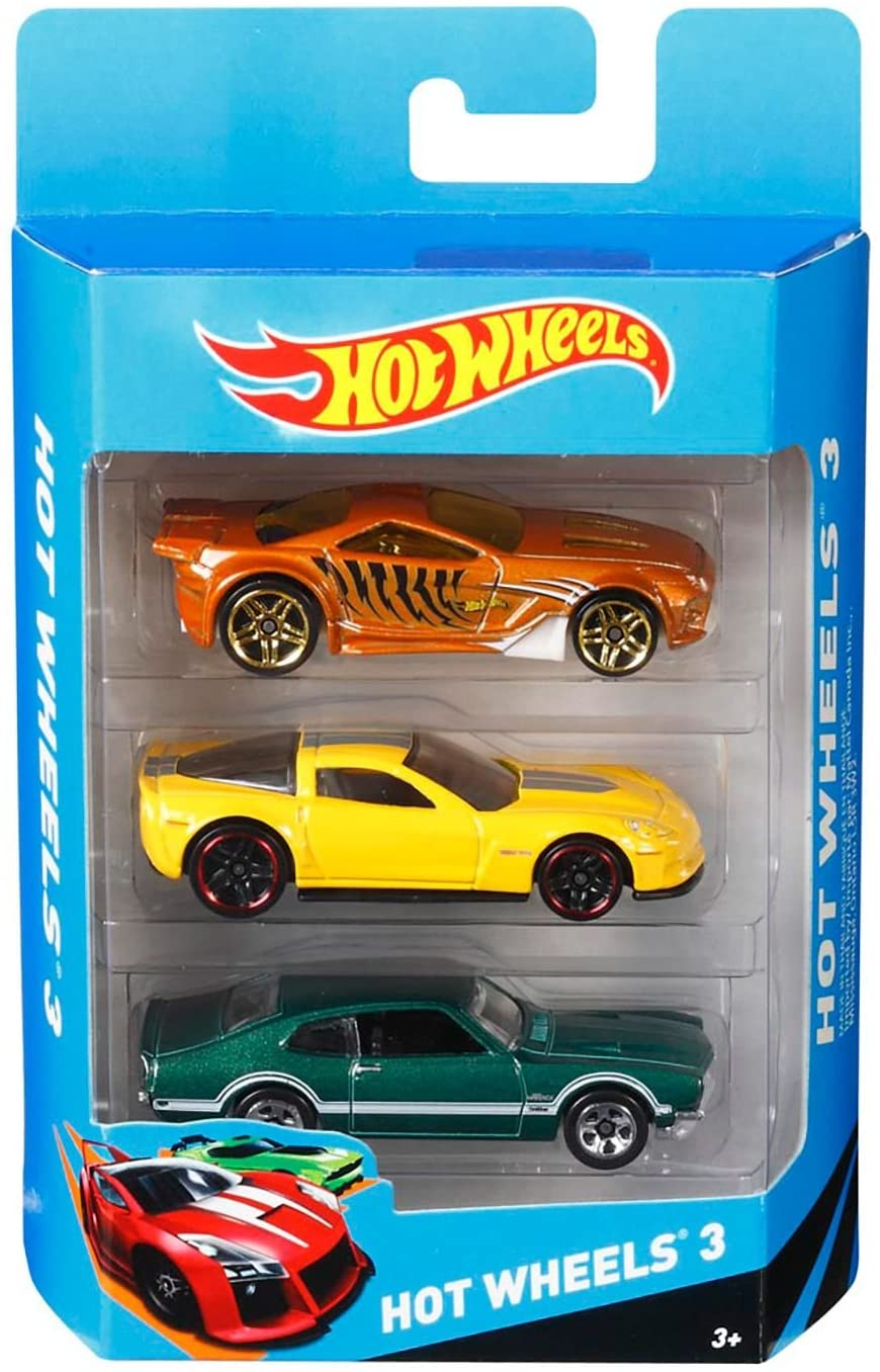 Hot Wheels K5904 Hot Wheels Basic Car Assortment 3 Pack- Car design varies from the picture