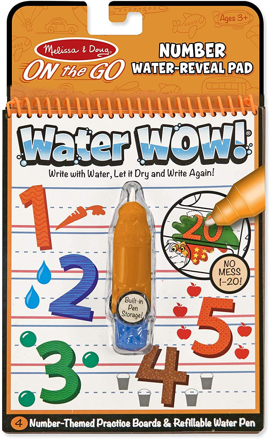 Water Wow! - Number Water Reveal Pad - ON the GO Travel Activity