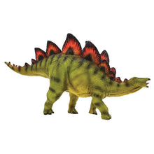Load image into Gallery viewer, National Geographic Wildlife Wow! - Realistic Soft Dinosaur Action Figure (Stegosaurus) - STEM Toy with FREE Augmented Reality App