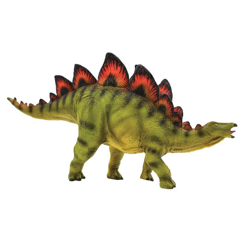 National Geographic Wildlife Wow! - Realistic Soft Dinosaur Action Figure (Stegosaurus) - STEM Toy with FREE Augmented Reality App