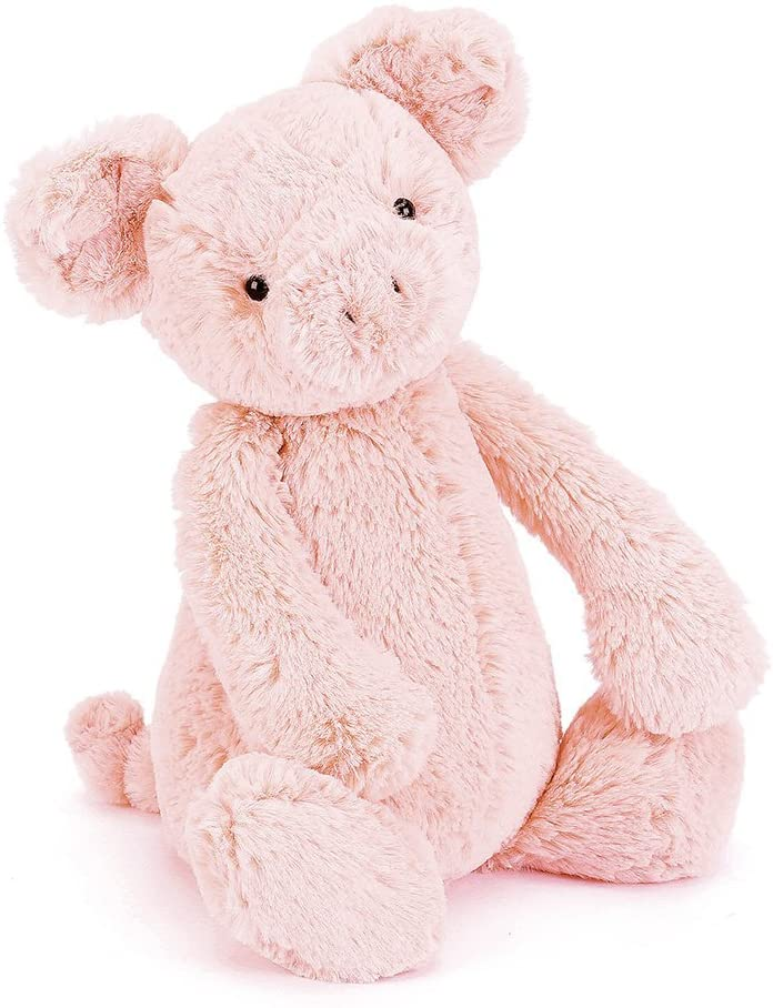 Jellycat Bashful Piggy Stuffed Animal, Medium 12 inches