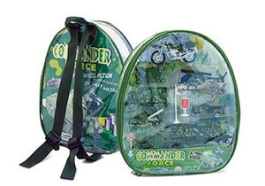 Work Force Kid's Military Backpack Play Set - Includes Die Cast Vehicles and Accessories