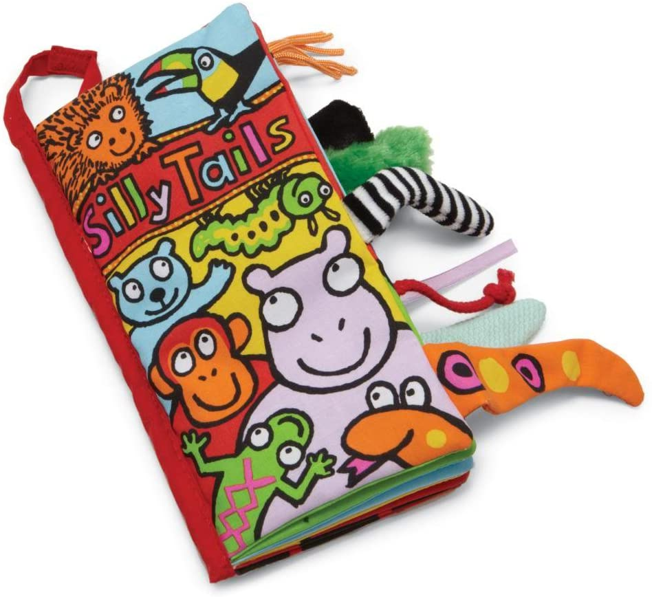 Jellycat Silly Tails Soft Cloth Baby Books