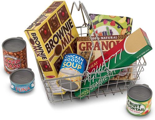 Melissa & Doug Grocery Basket with Play Food