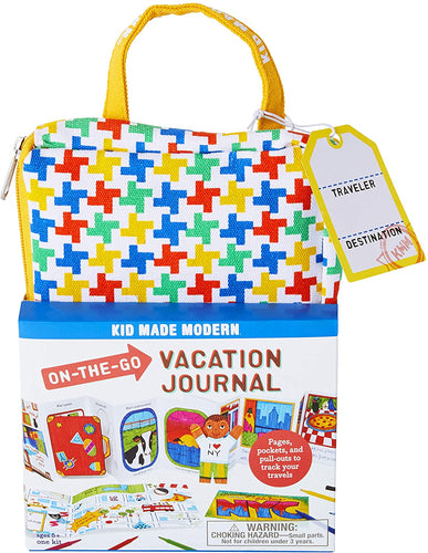 Kid Made Modern On-The-Go Vacation Journal Kit - Travel Coloring Book for Kids, Ages 5 and Up