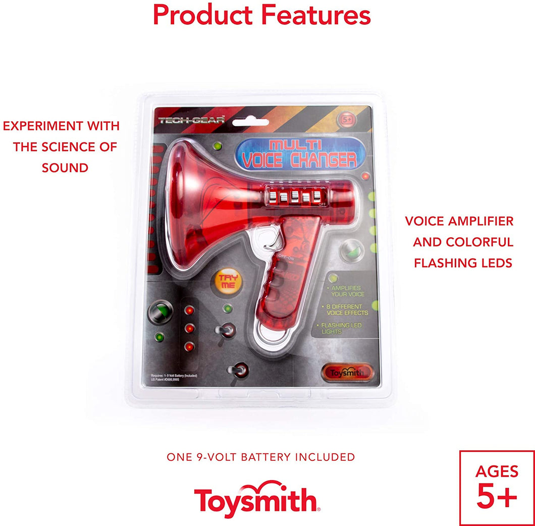 Toysmith Tech Gear Multi Voice Changer (6.5-Inch Red)
