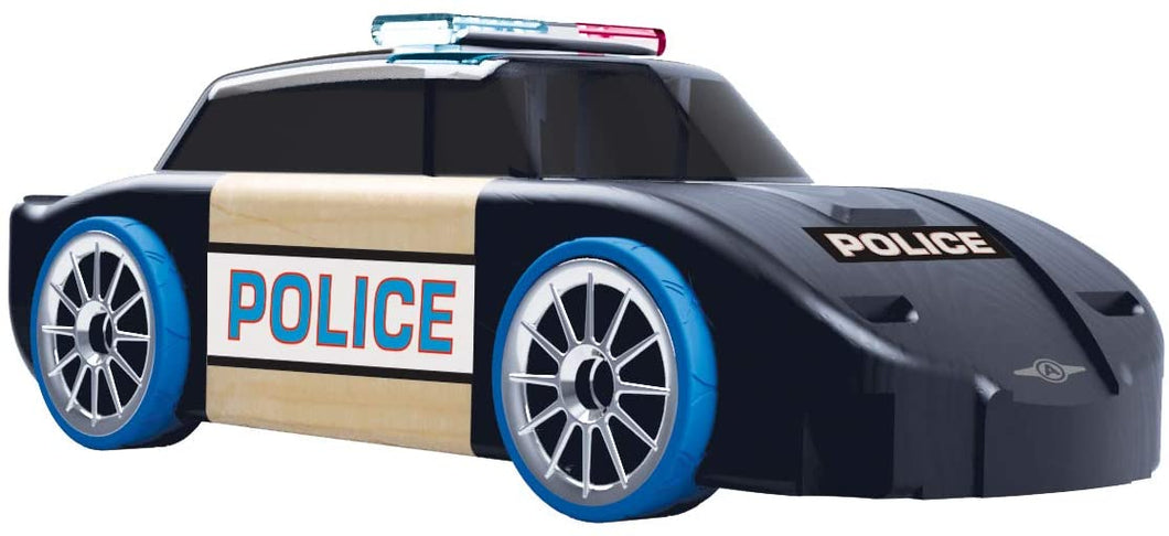 Automoblox Collectible Wood Toy Cars and Trucks—Ultimate S12 Chaser--Police Squad Car (Compatible with Other Ultimate Series Vehicles)