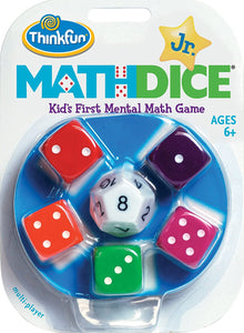 Math Dice Junior Game for Boys and Girls Age 6 and Up - Teachers Favorite and Toy of the Year Nominee