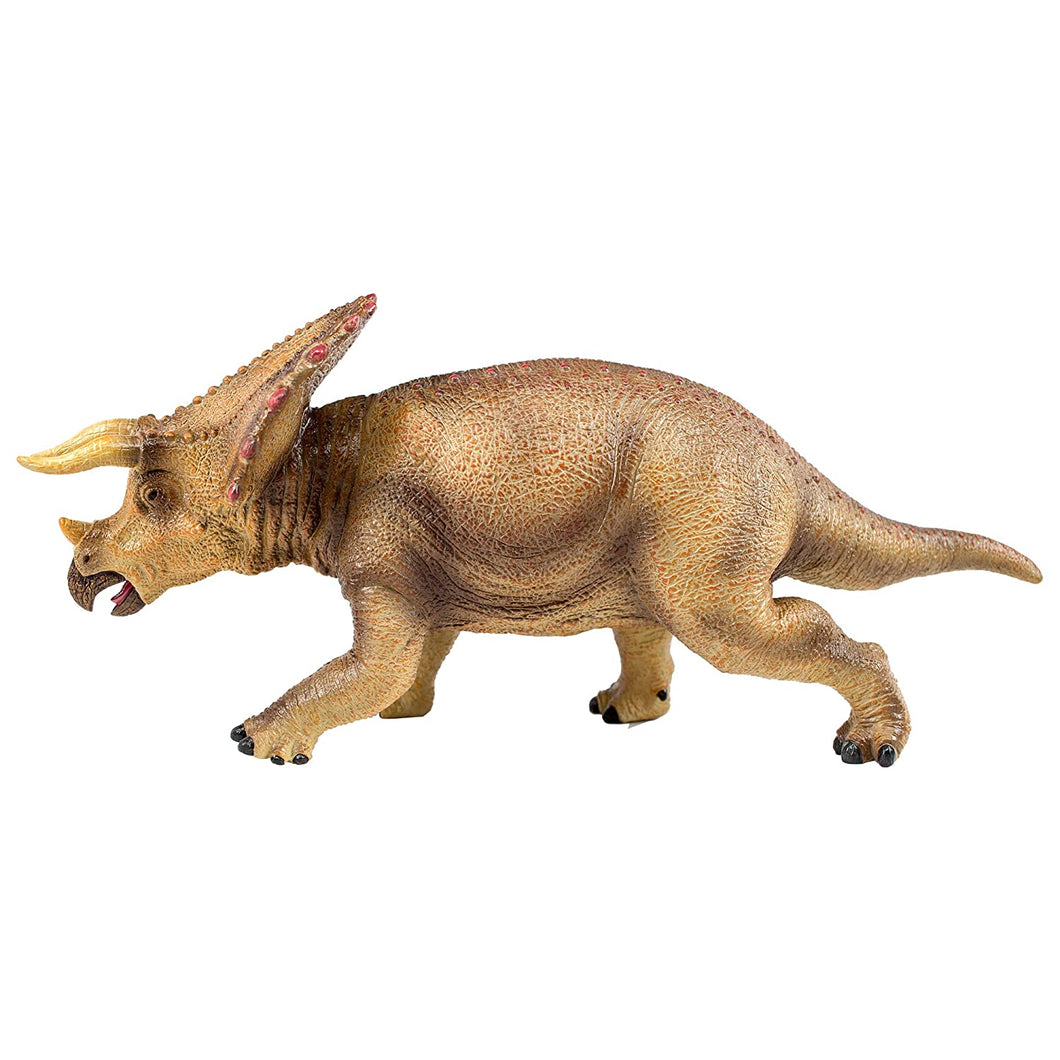 National Geographic Wildlife Wow! - Realistic Soft Dinosaur Action Figure (Large Triceratops) - STEM Toy with FREE Augmented Reality App