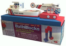 Load image into Gallery viewer, BathBlocks Bathtime Consruction Building Toy - Coast Guard Boat & Helicopter