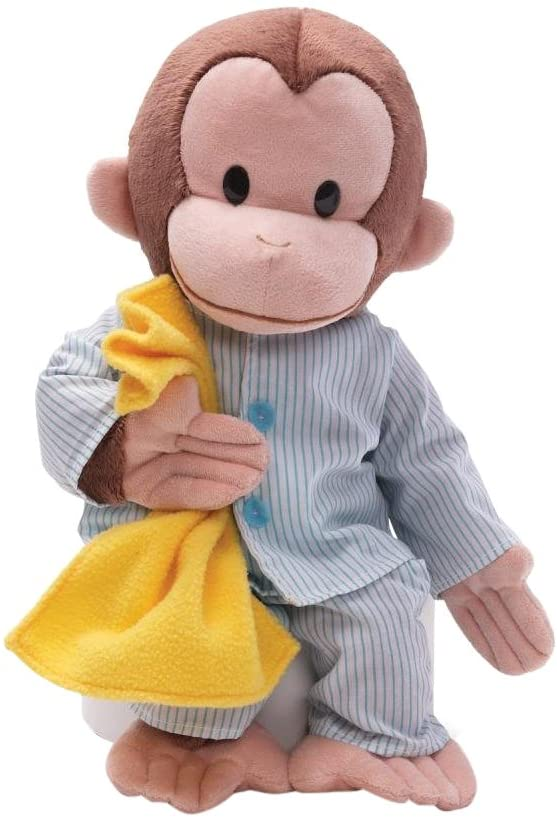 GUND Curious George Pajamas Monkey Stuffed Animal Plush, 16
