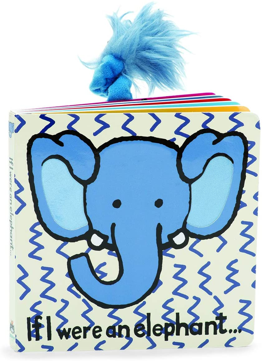 Jellycat Baby Touch and Feel Board Books, If I were a Elephant