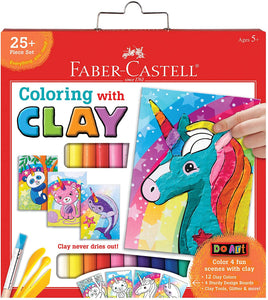 Faber-Castell Do Art Coloring with Clay Unicorn & Friends - Clay Set for Kids - Arts and Crafts for Kids