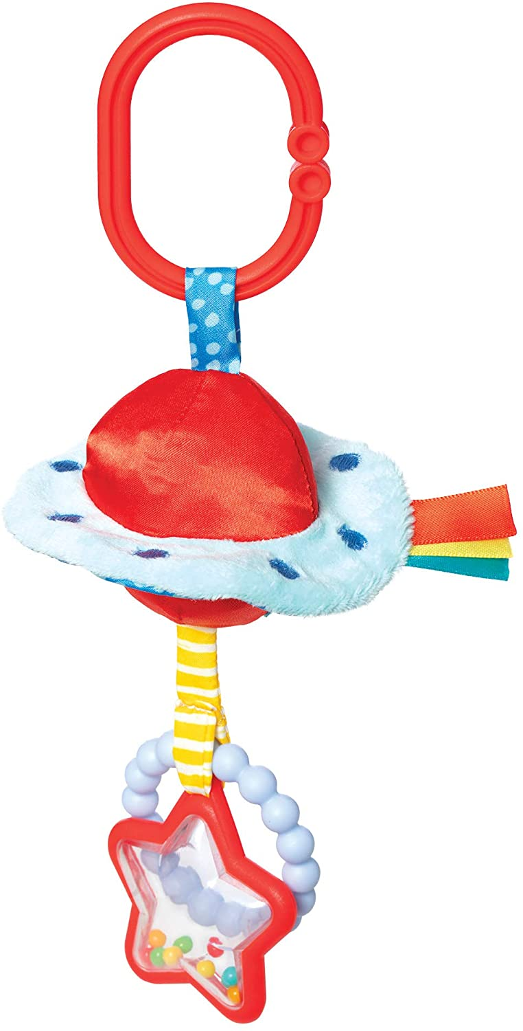 UFO Clip-on Baby Travel Toy with Rattles and Teethers