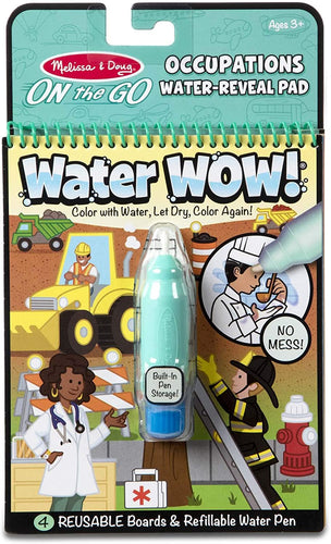 Water Wow! - Occupations Water Reveal Pad - ON the GO Travel Activity