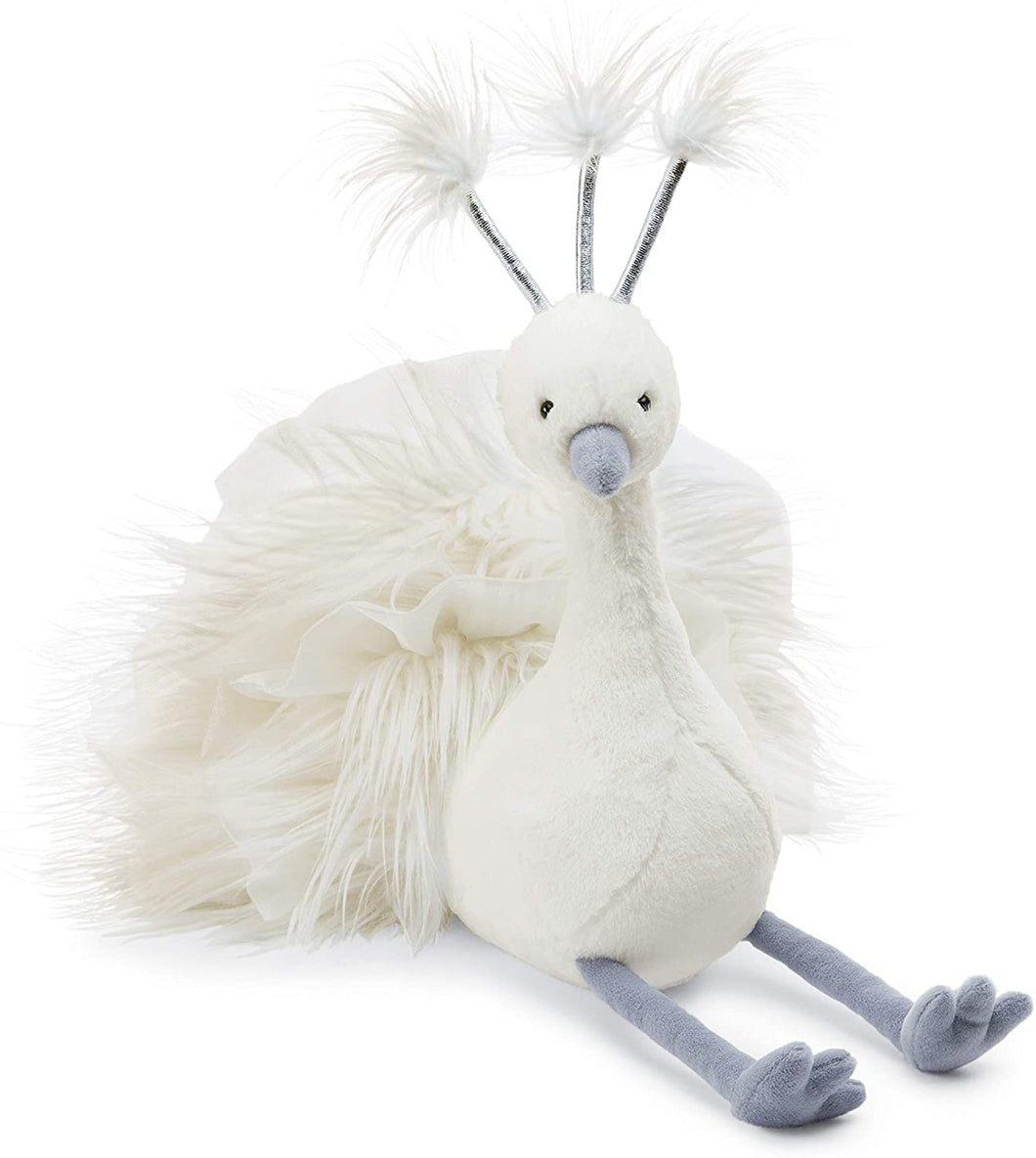Jellycat Lola Wingaling Peacock Stuffed Animal, 20 inches