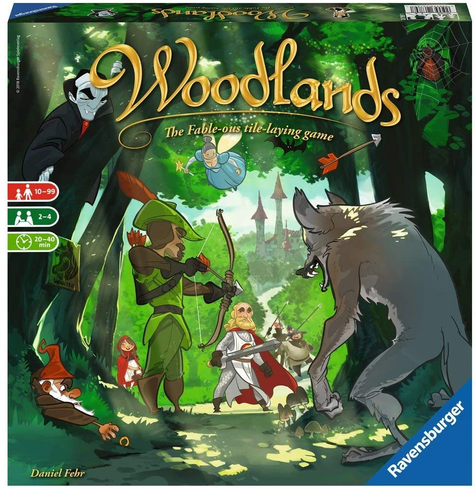 Woodlands for Ages 10 & Up - Story-Driven Family Board Game of Fairytales & Strategy