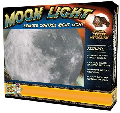Discover with Dr. Cool Moon Light with AC Adapter – 7 Color Settings (2017 Release with New, Battery-Saving Features)!