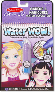 Water Wow! - Makeup & Manicure Water Reveal Pad - ON the GO Travel Activity
