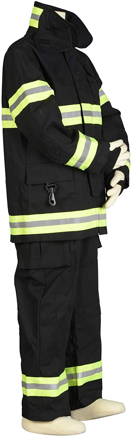 Aeromax Jr. Fire Fighter Bunker Gear, Black, Size 6/8