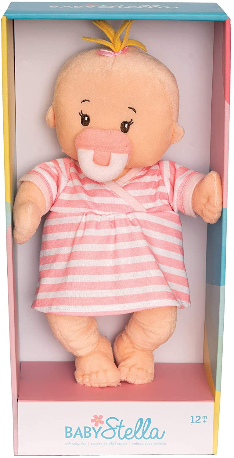Baby Stella Soft First Baby Doll for Ages 1 Year and Up, 15