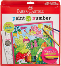 Load image into Gallery viewer, Faber-Castell Young Artist Paint By Number Kit Fairy Garden, Kids Watercolor Art Kit