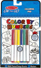 Load image into Gallery viewer, Melissa & Doug On the Go Color by Numbers Kids' Design Boards: Playtime, Construction, Sports, and More (Great Gift for Girls and Boys - Best for 5, 6, 7, 8, 9 Year Olds and Up)