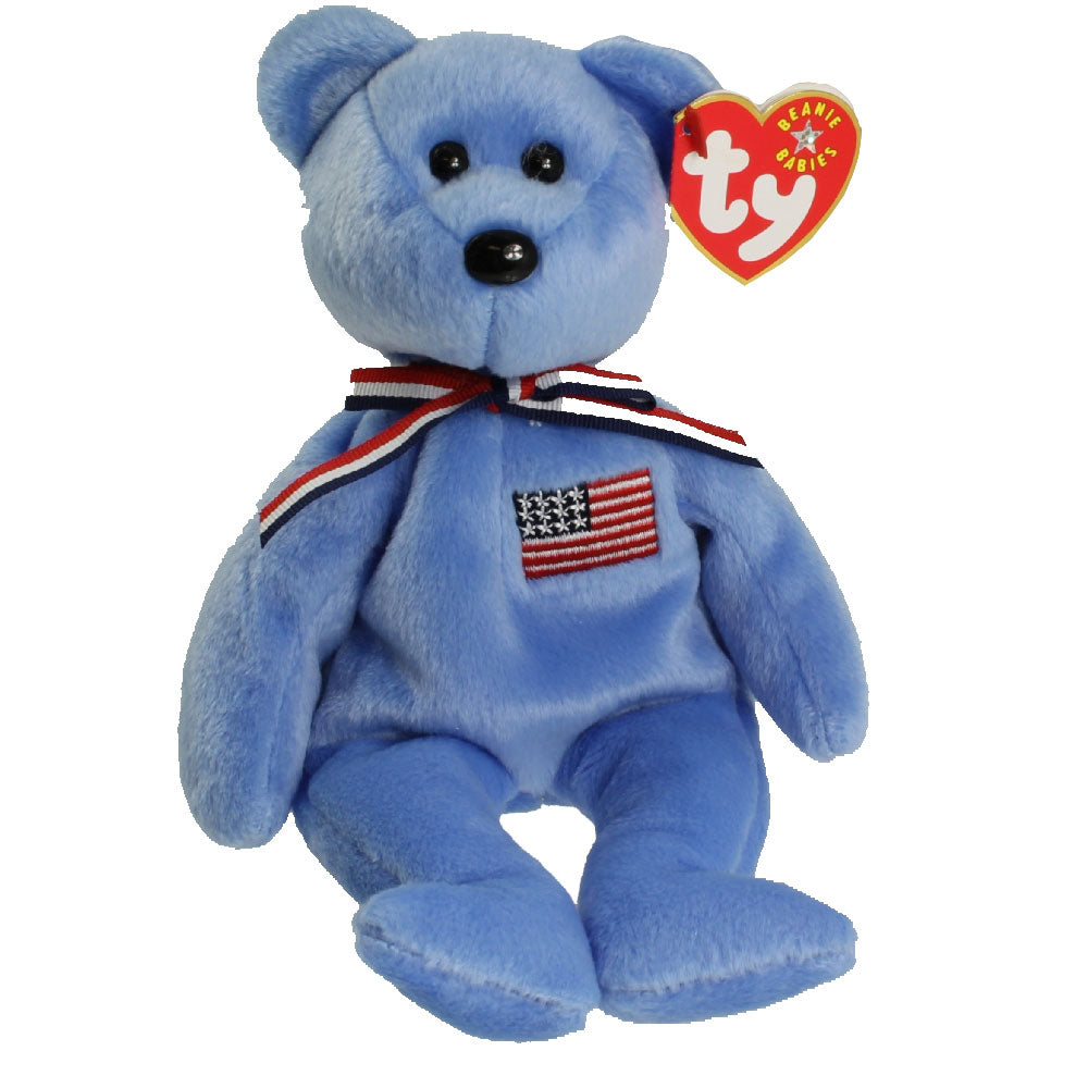 TY Beanie Babies - AMERICA the Bear (Blue Version) (8.5 inch)