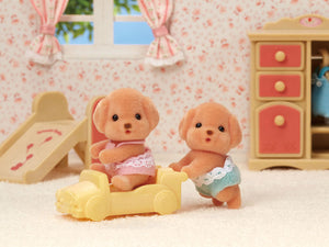 Calico Critter Toy Poodle Twins