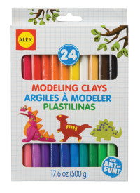 Colorful Modeling Clays (24 pack)