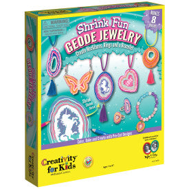Shrink Fun Geode Jewelry