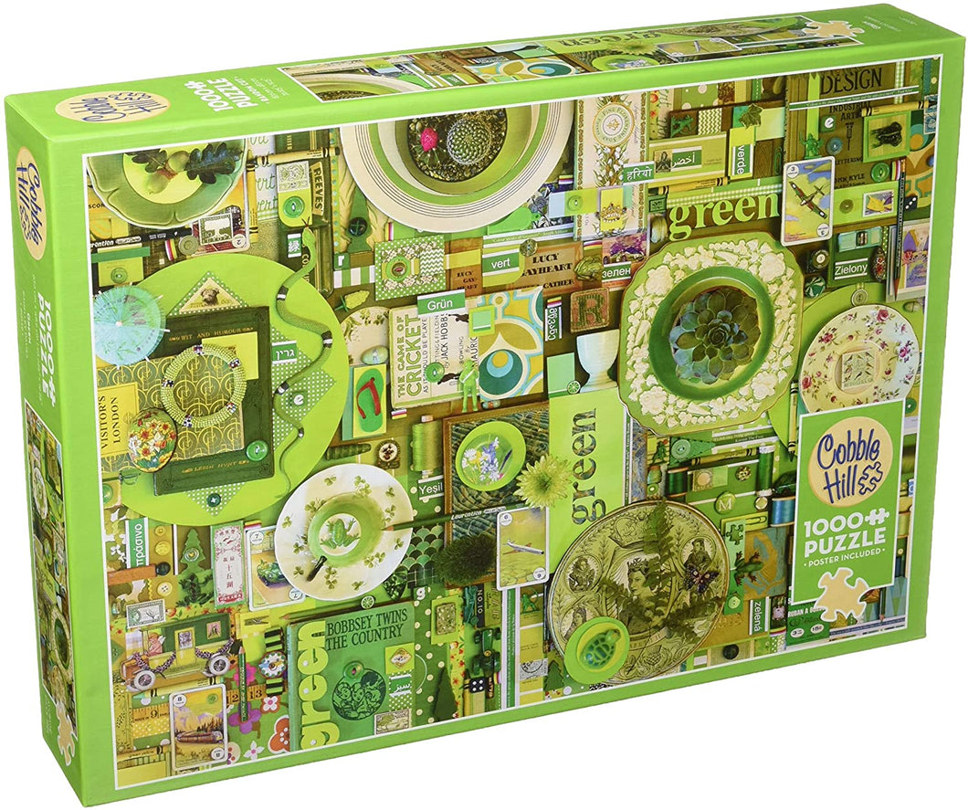 Cobble Hill 1,000 piece Green puzzle