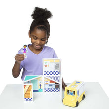 Load image into Gallery viewer, Magnetivity Magnetic Building Play Set - Pizza & Ice Cream Shop