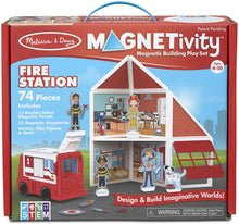 Load image into Gallery viewer, Magnetivity Magnetic Building Play Set - Fire Station
