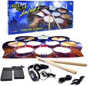 Rock And Roll It - Drum Live! Flexible Roll -Up Drum Kit