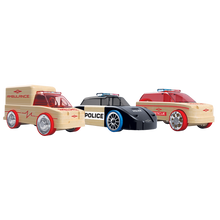 Load image into Gallery viewer, Automoblox Collectible Wood Toy Cars and Trucks—Rescue Vehicles - Mini  X9 Rescue SUV, S9 Police Cruiser and T900 Ambulance 3-Pack