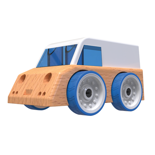 Automoblox Collectible Wood Toy Cars and Trucks--Micro V4 Epoch