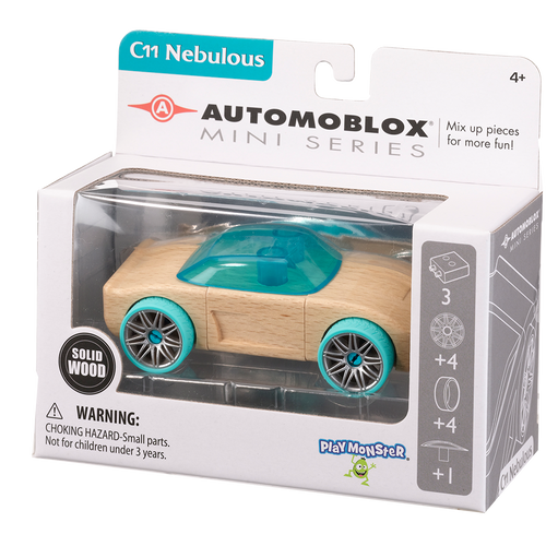 Automoblox Collectible Wood Toy Cars and Trucks—Mini C11 Nebulous