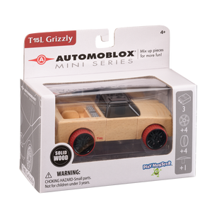 Automoblox Collectible Wood Toy Cars and Trucks—Mini T15L Grizzly