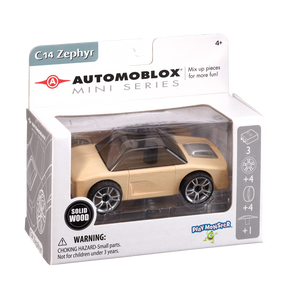 Automoblox Collectible Wood Toy Cars and Trucks—Mini C14 Zephyr
