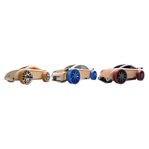 Automoblox Collectible Wood Toy Cars and Trucks— Mini  C9-R sportscar S9-R sport sedan C9-S berlinetta 3-Pack