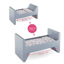 "Load image into Gallery viewer, Crib and Bed for 12"" / 14"" / 17"" Baby Doll"