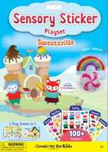 "Load image into Gallery viewer, Sensory Sticker Playset ""Sweetsville"""