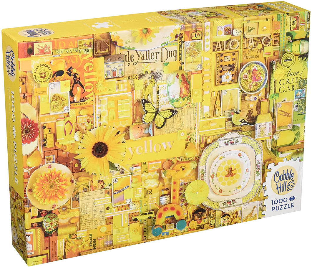 Cobble Hill 1,000 piece Yellow puzzle