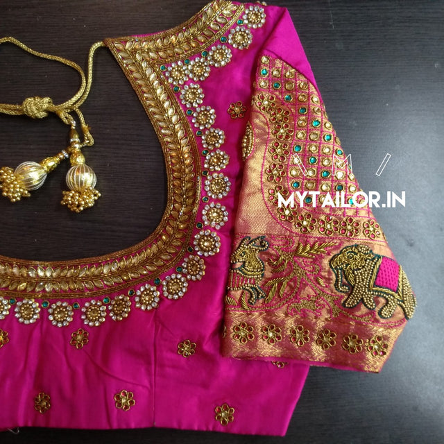 92b5343b6768d Now order Maggam Work online with or without stitching. Delivered worldwide.