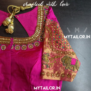 Blouse Design 165 - Heritage Collection - Designer Saree Blouse with maggam work