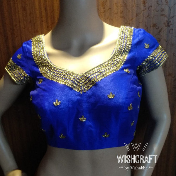 Blouse Design 103 - Beautiful kundan work saree blouse